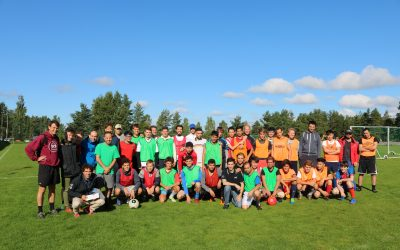 Football match with refugees in Heinola (Finland)